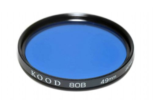 High Quality Optical Glass 80B Filter Made in Japan 49mm Kood